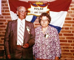 Wim en Diets 55 jaar getrouwd in 1981