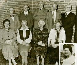 De broers en zussen van Wim van Eck tijden de van Eck 800 jaar reünie.