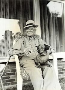 Wim van Eck samen met Aussie in 1993