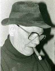 Wim van Eck met de onafscheidelijke sigaar.